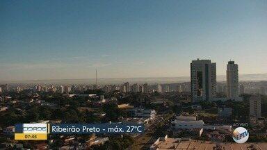 Confira a previsão do tempo para esta terça-feira (12) em Ribeirão Preto e região - Temperatura deve chegar aos 27º C.
