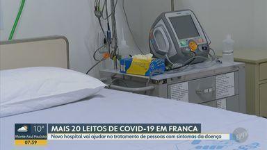Franca firma convênio de R$ 1,5 milhão para 20 novos leitos para tratar Covid-19 - Contrato é com o Hospital da Caridade Dr. Ismael Alonso y Alonso, inaugurado no domingo (10). Leitos podem ser ampliados para 40, informou secretário da Saúde.