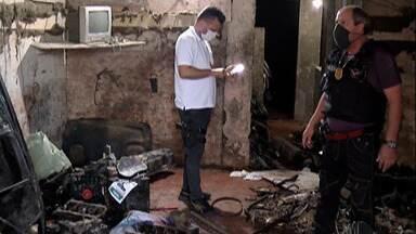 Polícia procura criminosos que usavam casa em Itaquaquecetuba como desmanche - Havia até túnel no local.