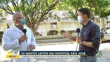 Hospital São José ganha novos leitos para Covid-19 - Saiba mais em g1.com.br/ce