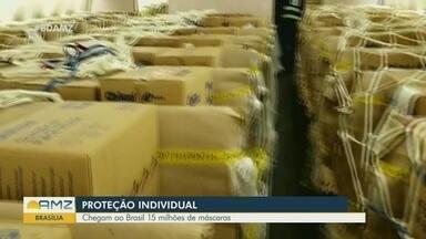 Novos equipamentos de proteção individual chegam ao Brasil - Material será distribuído entre os estados.