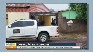 Gaeco faz operação contra esquema de compra e venda de combustíveis em quatro cidades MS - Em Ribas do Rio Pardo policiais cumpriram mandados na casa de prefeito e vice