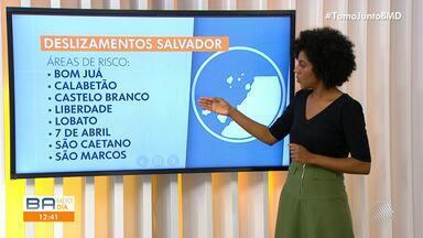 Defesa Civil: Confira as áreas de Salvador que estão em alerta devido à chuva na capital - veja.