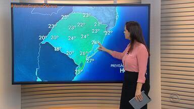 Chuva segue no RS nesta terça-feira (12); alerta é para temporais na faixa Central - Temperaturas ficam amenas.
