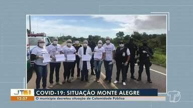 Monte Alegre decreta situação de 'calamidade pública' por conta do coronavírus - Situação no município já foi reconhecida pela Defesa Civil nacional.