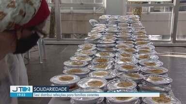 SESI distribui refeições a famílias carentes em Santos - Ação ajuda famílias que passam por dificuldades em meio à crise.