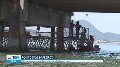 Obras emergenciais na Ponte dos Barreiros devem ser concluídas em junho - Estrutura que liga Área Insultar à Área Continental da cidade está interditada desde 30 de novembro do ano passado.