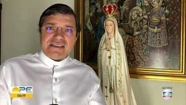 Nossa Senhora de Fátima é celebrada com missas virtuais no Recife - Padre Damião Silva explica a devoção à santa.