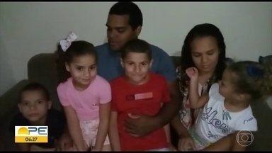 Quatro irmãos são adotados por casal de Palamares - Crianças chegaram para alegrar a família.