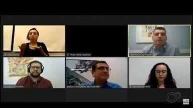 """Projeto """"Eu profissional"""" discute a reestruturação financeira dos empreendedores - Palestras do projeto da TV TEM em parceria com o Senac são realizadas de forma online por causa da pandemia."""