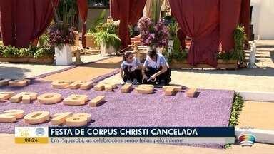 Tradicional festa de Corpus Christi é cancelada em Piquerobi - Medida foi tomada devido à pandemia de Covid-19.