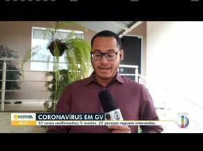 Covid-19: Confira como está a situação em Governador Valadares - São 51 casos confirmados, cinco mortes e 22 pessoas seguem internadas.