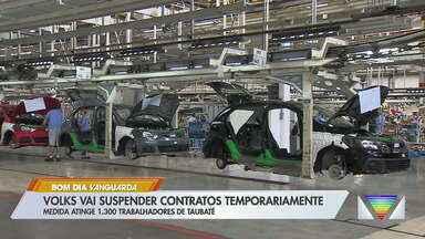 Volkswagen adota layoff para 1,3 mil funcionários em Taubaté, SP - Medida passa a valer a partir do próximo dia 25 e tem duração de dois a cinco meses.