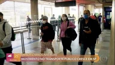 Movimentação nos transportes públicos aumenta com rodízio mais rígido em São Paulo - Mesmo com as novas regras, isolamento na cidade não passou de 49%