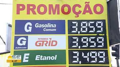 Preço da gasolina é o mais baixo do ano em Sergipe - Preço da gasolina é o mais baixo do ano em Sergipe.