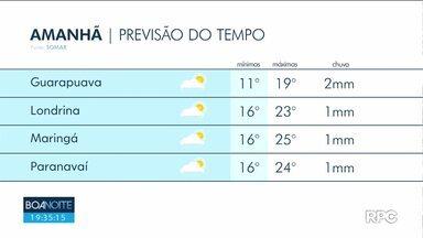 Confira a previsão do tempo para esta quinta-feira em todo o estado - Massa de ar seco começa a atingir o estado.