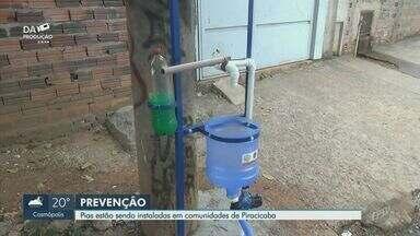 Piracicaba instala lavatórios em comunidades para evitar disseminação do coronavírus - Sabiá, Santo Antônio, Portelinha, Algodoal e Vila Maria estão entre as áreas contempladas, diz administração.