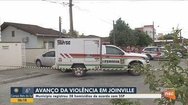 SSP aponta que Joinville tem avanço da violência com 38 homicídios - SSP aponta que Joinville tem avanço da violência com 38 homicídios