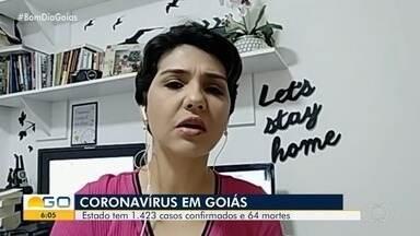 Goiás bate recorde ao registrar 198 novos casos confirmados de coronavírus em 24h - Ao todo, estado tem 64 mortes e 1,4 mil pessoas com Covid-19. Governo investiga ainda mais de 14 mil notificações suspeitas da doença.
