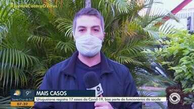 Uruguaiana confirma mais 17 casos de coronavírus nesta quinta-feira - Desses, nove são profissionais da mesma unidade de saúde da cidade.