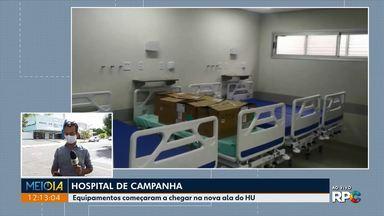 Equipamentos começaram a chegar na nova ala do HU de Londrina - E veja também: Mudanças no vestibular da UEL