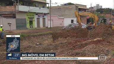 MG Móvel acompanha início de obras em Betim - Começaram as obras de canalização do córrego e revitalização da avenida Cordilini.