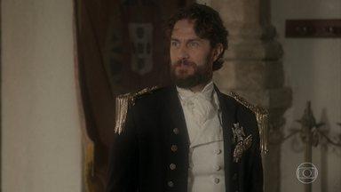 Thomas descobre que Joaquim falou com Chalaça antes de o navio partir - Ele diz ao general Avilez que já sabe o que fazer em relação a Joaquim
