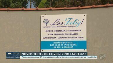 """Exames mostram que três idosos seguem com sintomas do coronavírus em lar de Hortolândia - No entanto, outros 10 pacientes que moram no Lar Feliz """"1"""" já estão curados. Há dez dias, seis idosos da casa de repouso morreram com a doença."""