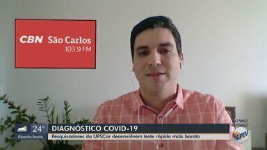 Pesquisadores da UFSCar estudam dispositivo para teste rápido da Covid-19 pela saliva - O apresentador da CBN Flávio Mesquita traz mais informações.