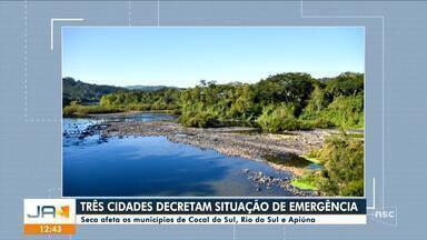 Três cidades de SC decretaram situação de emergência por conta da estiagem - Três cidades de SC decretaram situação de emergência por conta da estiagem