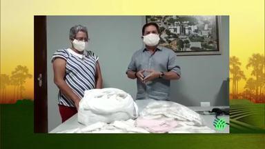 Sindicato dos Produtores Rurais de Janaúba realiza a distribuição de máscaras de proteção - Presidente da instituição gravou um vídeo em que fala sobre esta ação.