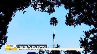 Previsão do tempo - Previsão de tempo bom no Rio nesta segunda