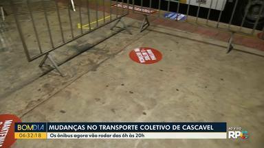 Mudanças no transporte coletivo de Cascavel - Os ônibus agora vão rodar das 6h às 20h.