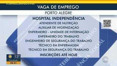 Hospital de Porto Alegre anuncia novas oportunidades de trabalho - Acesse o g1.com.br/rs e veja os detalhes.