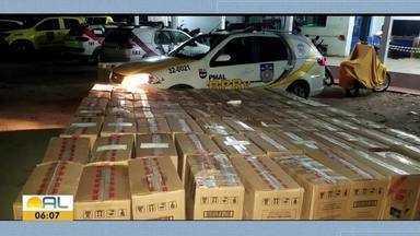 BPRV apreende carga de cigarros em Craíbas - Mais de 100 mil maços foram encontrados dentro de uma van.