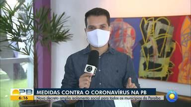 Paraíba tem 4.347 casos confirmados e 194 mortes por coronavírus - Pelo menos 284 novos casos e 11 mortes foram confirmados nas últimas 24 horas.