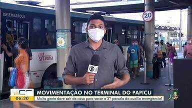 Veja a movimentação no terminal do Papicu nesta segunda-feira (18) - Saiba mais em g1.com.br/ce