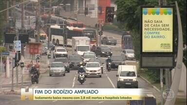 São Paulo retoma o rodízio tradicional, feito há 23 anos na cidade. - O rodiízio ampliado não surtiu o efeito desejado de ampliar os índices de isolamento.
