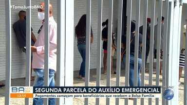 Segunda parcela do pagamento do auxílio emergencial começa a ser paga nesta segunda - Veja como está o movimento em agências da Caixa Econômica Federal em Salvador e outras cidades baianas.