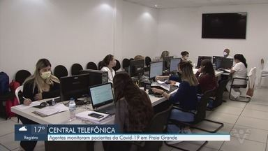 Praia Grande acompanha pacientes com Covid-19 por central telefônica - Agentes monitoram pacientes com o novo coronavírus por meio da central.
