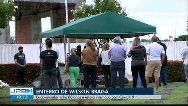 Wilson Braga, ex governador da PB, é sepultado - Estava internado com Covid-19.