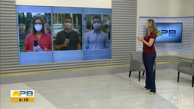 Novas medidas de prevenção ao coronavírus são adotadas na Grande João Pessoa - Confira os detalhes com os repórteres Ítalo Di Lucena, Hildebrando Neto e Felícia Arbex.