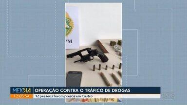 Operação contra o tráfico de drogas - Doze pessoas foram presas em Castro.