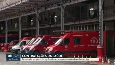 Contratação de ambulâncias apresenta irregularidades no Rio - Enquanto pacientes esperam a abertura de mais leitos com os hospitais de campanha, o governo do estado vive uma crise de saúde e também de gestão, com denúncias de fraudes e troca de secretários.