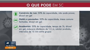 Relembre as atividades autorizadas a funcionar em SC por decretos com pandemia - Relembre as atividades autorizadas a funcionar em SC por decretos com pandemia