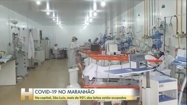 Em São Luís, no Maranhão, 90% dos leitos estão ocupados - Últimas semanas no Maranhão tem aumento significativo de mortes e infectados pela Covid-19