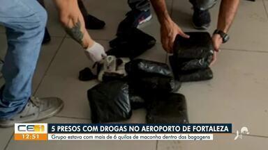 Cinco pessoas são presas com maconha no Aeroporto de Fortaleza - Saiba mais em g1.com.br/ce