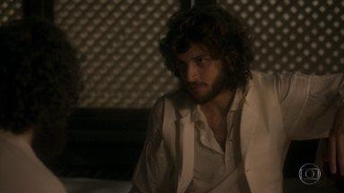 Joaquim pensa em investigar Jacinto - Ele diz a Peter que vai conversar com Diara sobre o jagunço que atentou contra a vida do príncipe