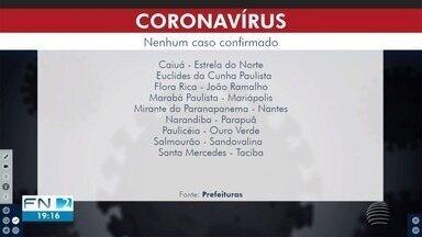 Monte Castelo não possui casos do novo coronavírus - Barreira de prevenção foi montada na entrada da cidade.