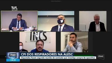 Alesc tem segunda sessão da CPI dos Respiradores - Alesc tem segunda sessão da CPI dos Respiradores